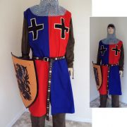 Medieval Knights Surcoat Red & Blue